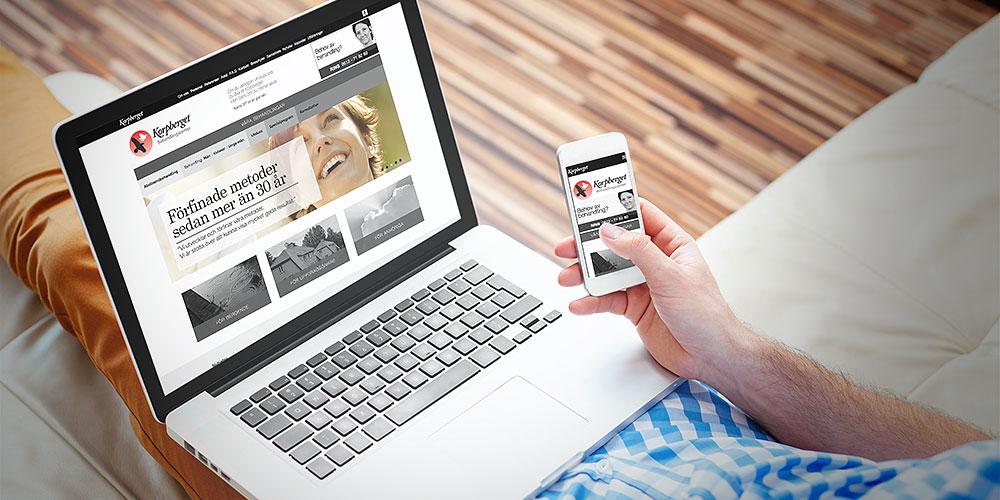 Ny responsiv webb för mobil, padda och dator
